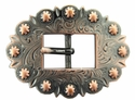 BS9307  Copper Cart Berry Centerbar Buckle 3/4""