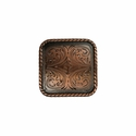 "BS9312-1 Copper 1"" Square Rope Edge Concho"
