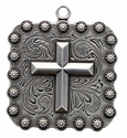 "BS9313 SRTP 2 1/4"" Cross Square Berry Pendant"
