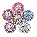 Coloma Swarovski Rhinestone Crystal Antique Silver Berry Conchos