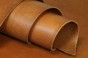 Cowhide Drum Dyed Double Shoulders Tan Color Finished Leather 8-9 oz