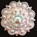 "Crystal AB Berry Conchos $12.50( 1""- 1 3/4"" )"