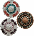 Crystal Center Rope Conchos