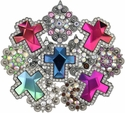 $1.00 Crystal Conchos Rhinestone Conchos Screw Back