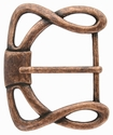 """CX-36 1 1/2"""" (38mm) Wide Forged Style Antique Copper Belt Buckle"""