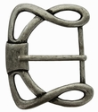 """CX-36 1 1/2"""" (38mm) Wide Forged Style Antique Silver Belt Buckle"""