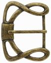 """CX-36 1 1/2"""" (38mm) Wide Forged Style Antique Brass Belt Buckle"""