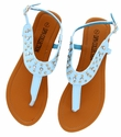 DXS-D19 Light Blue Women Summer Sandals Flip Flops