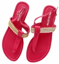 DXS-D23 Fuchsia Women Summer Sandals Flip Flops