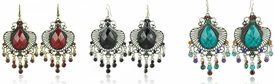 E1074 Chandelier Gemstone Fashion Earrings *Multi-Color Options*