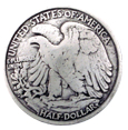 F9547-B SRTP 1 1/4'' AMERICAN EAGLEHALF DOLLAR  COIN REPRODUCTION CONCHO