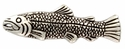 F9650-1 LASRP Antique Silver Scaled Fish Concho