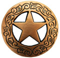 "F9704 COPPER 1 1/8""  Ranger Star CONCHOS"
