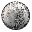 F9711-A SRTP MORGAN SILVER DOLLAR COIN CONCHO REPRODUCTION