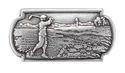 FA 0330A-4 SRTP ANTIQUE SILVER GOLF SCENE CONCHO