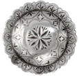 "FA4831-4 LASRP Engraved Windrose Concho 1 1/2"" Antique Silver"