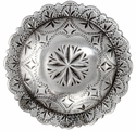 "FA4831-5 LASRP Engraved Windrose Concho 1 3/4"" Antique Silver"