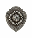"FA4833-1 LASRP Antique Silver Badge Concho 1 1/8"" x 7/8"""