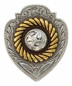 "FA4833 ASAG Antique Silver and Gold Badge Concho 1 1/2"" x 1 1/4"""