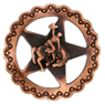"FA4835-1 SVCRB Star Bronco Rider Concho 3/4"" Copper"