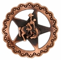 "FA4835-4 SVCRB Star Bronco Rider Concho 1-1/2"" Copper"