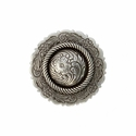 FA4863-1 LASRP Antique Silver Center Rope Concho 1""