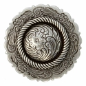 FA4863-4 LASRP Antique Silver Center Rope Concho 1 3/4""