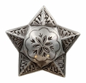 FA5029-1 LASRP Antique Silver Star Windrose Concho 1-1/4""