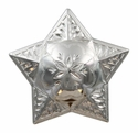 FA5029-1 SP Polished Silver Star Windrose Concho 1-1/4""