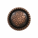 FA5053-2 SVCRB Copper Rope Edge Flower Engraved Concho 1''