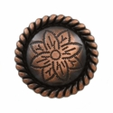 FA5053-3 SVCRB Copper Rope Edge Flower Engraved Concho 1-1/4''