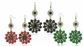 FE101119 Flower Drape Earrings