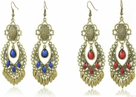 FE101126 Chandelier Fashion Earrings *Multi-Color options*