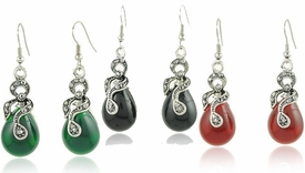 FE11011 Tear Drop Gemstone Earrings *Multi-Color Option*