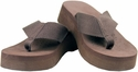 "Gino-03 1 1/2"" Heel Flip Flop- Brown"