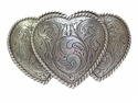 HA0086-1 LASRP Triple Hearts Ladies Cowgirl Belt Buckle