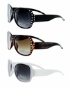 4104R High Quality Fashion Rhinestone Crystal Sunglasses -12 Pairs