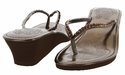 ISIS Women Summer Bling Flip Flops Sandals - Brown