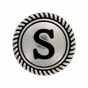 """Letter """"S"""" Initial Screwback Concho"""