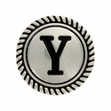 """Letter """"Y"""" Initial Screwback Concho"""