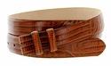 "Lizard Grain 1 1/8"" (30mm) wide Belt Strap - Tan"