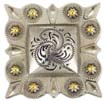 "LL-2323 OS/G Square Berry Concho 1-1/2"" Old Silver/Gold"