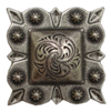 """LL-2325 OS  Square Concho 1"""" Old Silver"""