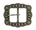 "LL-2675 OS Old Silver Berry Belt buckle 1 1/2"" (38mm)"