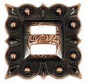 "LL-2868 Copper 1-1/2"" Slotted Square Concho"