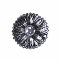 "LL-2907 OS Antique Silver Sunflower 1"" Concho"