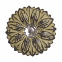 "LL-2908 Golden Yellow Sand Sunflower Crystal 1-1/2"" Concho"