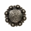 LL-3306 OS Antique Silver Berry Concho 1/2""