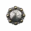 LL-3306 SRTPGP Antique Silver Berry Concho 1/2""