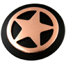 LL1172 COB Star Concho Copper with Matt Black Paint 1""